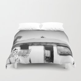 Poor Man's Wings of Desire Duvet Cover