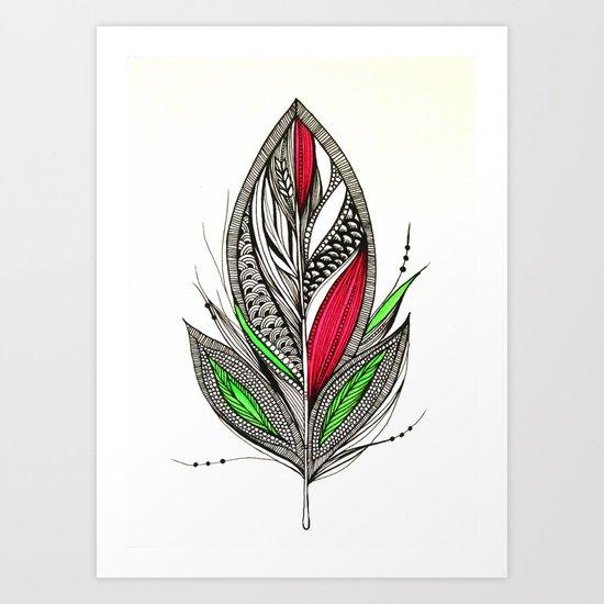 Harvest Feather Art Print