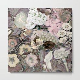 Woman flower Metal Print