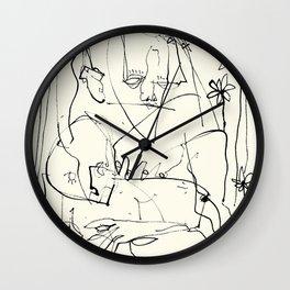 Amongst Flowers  Wall Clock