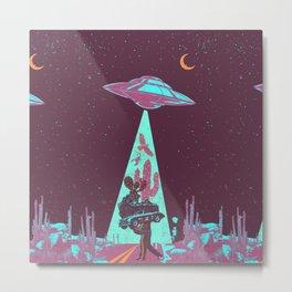 DESERT UFO Metal Print