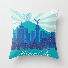 MEXICO CITY Throw Pillow