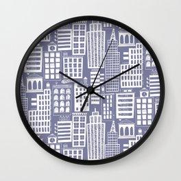 building citi town Cityscape Wall Clock