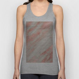 Smooth rose gold on gray marble Unisex Tank Top
