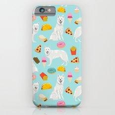 White Shepherd dog breed White German Shepherd junk food french fries donuts pet friendly mint iPhone 6s Slim Case