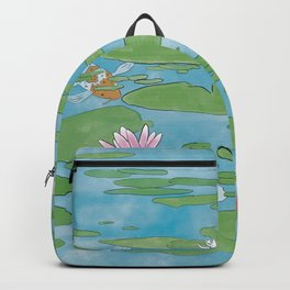 Koi Water Lily Scene Backpack