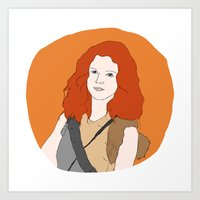 ygritte Art Prints featuring Ygritte by Emma