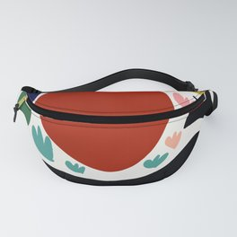 Birds in the sun minimal art abstract pattern decorative Fanny Pack