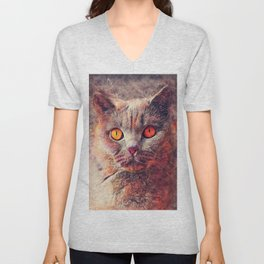 cat Gina #cat #cats #animals Unisex V-Neck