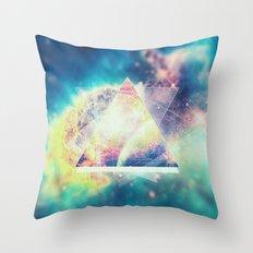 Awsome collosal deep space triangle art sign Throw Pillow