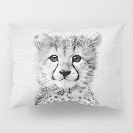 Baby Cheetah - Black & White Pillow Sham