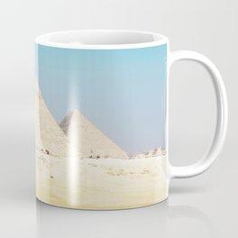 Pyramids Beneath Blue Skies Coffee Mug