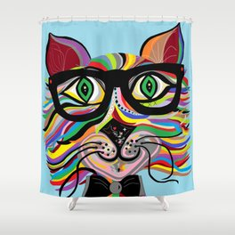 VERY Cool Cat Shower Curtain