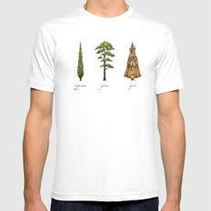 Fur Tree Mens Fitted Tee White SMALL