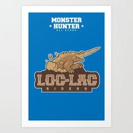Monster Hunter All Stars - Loc-Lac Riders Art Print