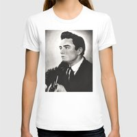 johnny cash T-shirts featuring Johnny Cash by bellevuetriangle
