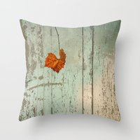 thanksgiving Throw Pillows featuring Thanksgiving by V. Sanderson / Chickens in the Trees