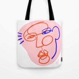 Abstract Face Drawing Tote Bag