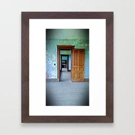 Through The Second Door (vacancy zine) Framed Art Print