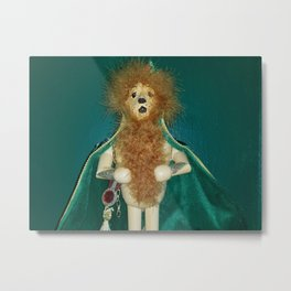 The Cowardly Lion Metal Print