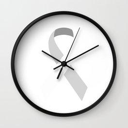 White Awareness Support Ribbon Wall Clock