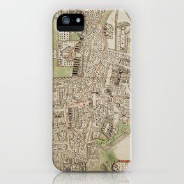 Vintage Map of Jerusalem Israel (16th Century) iPhone Case