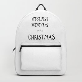 Holy moly it's Christmas Backpack