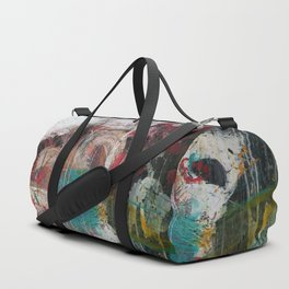 Casual Brush Strokes Abstract Duffle Bag