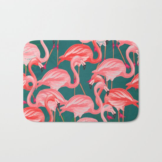 flamingo tropical Bath Mat