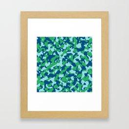 Snorkel Island Camouflage Framed Art Print