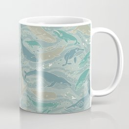 Whales Gathering Blue II Coffee Mug