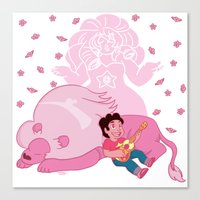 steven universe Canvas Prints featuring Steven Universe by Vivian Lindemberg Arcila