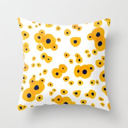 Yellow flowers Pattern Throw Pillow