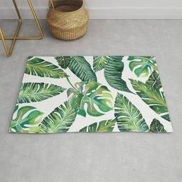 Jungle Leaves, Banana, Monstera #society6 Rug