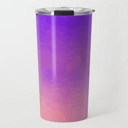 Pink and Purple Ombre - Swirly - Flipped Travel Mug