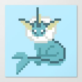 Pixel Vaporeon Canvas Print