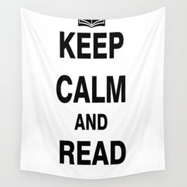 Keep Calm and Read Books Wall Tapestry