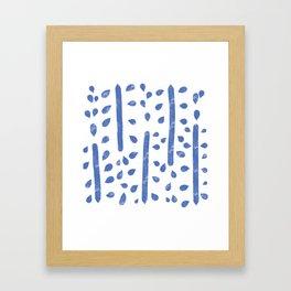 Water color patter - blue Framed Art Print