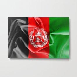Afghanistan Flag Metal Print