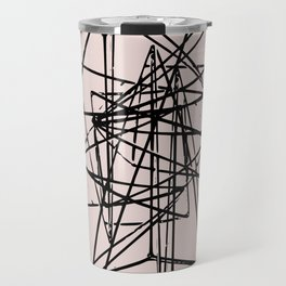 Abstract space construction in pink Travel Mug