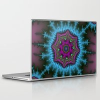 shield Laptop & iPad Skins featuring Fractal Shield by Harvey Warwick