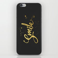 Gold Smile Quote  iPhone & iPod Skin