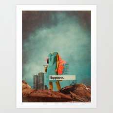 Happiness Here Art Print