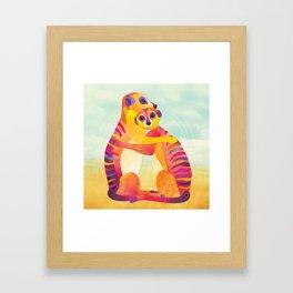 Shanti Sparrow: Jack and Rose the Meerkats Framed Art Print