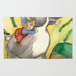 Elves and Reindeer Rug