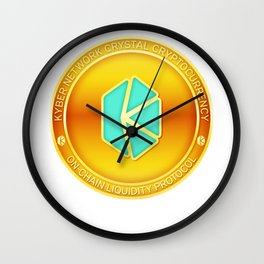 Kyber Network Crystal Cryptocurrency Design Wall Clock