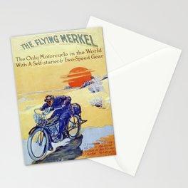 Vintage Merkel Motorcycle Advert Stationery Cards
