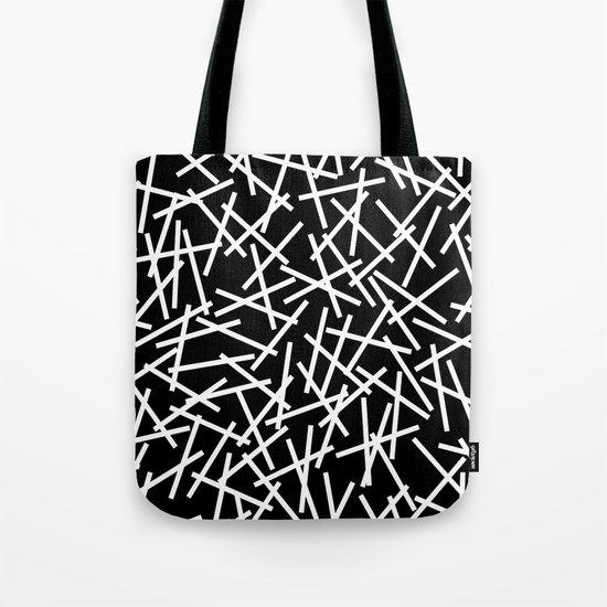 Kerplunk Black and White Tote Bag