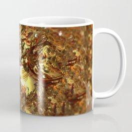 Geometric melting gold foundry digital illustration Coffee Mug