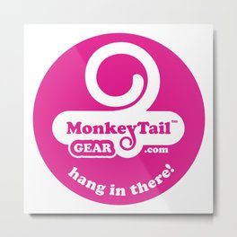 Monkey Tail Gear Logo T - 001 Pink Metal Print